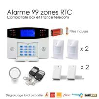 SecuriteGOODdeal - Pack alarme sans fil, 99 zones Medium box