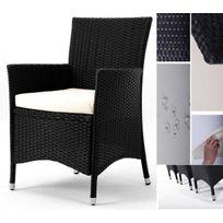 Wood-en-Stock - Lot de 2 fauteuils de jardin en résine tressée