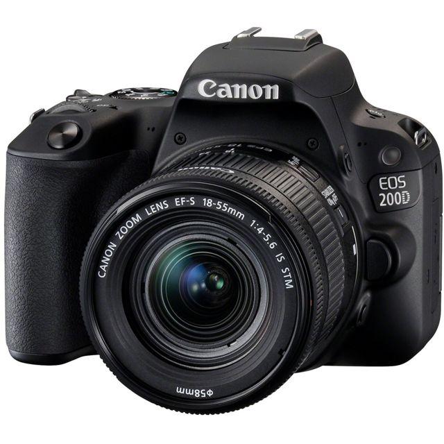 canon appareil photo reflex 200d 18 55 pas cher achat vente reflex professionnel rueducommerce. Black Bedroom Furniture Sets. Home Design Ideas