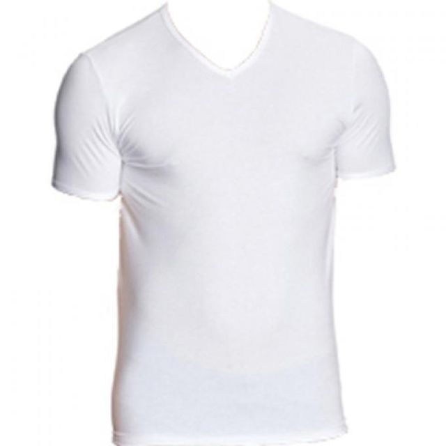 a9ad7b565e76c Eminence - Tee Shirt Col V Moulant - pas cher Achat   Vente Tee shirt homme  - RueDuCommerce