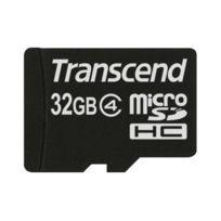 Transcend - Carte mémoire flash adaptateur microSDHC - Sd inclus e - 32 Go - Class 4 - microSDHC