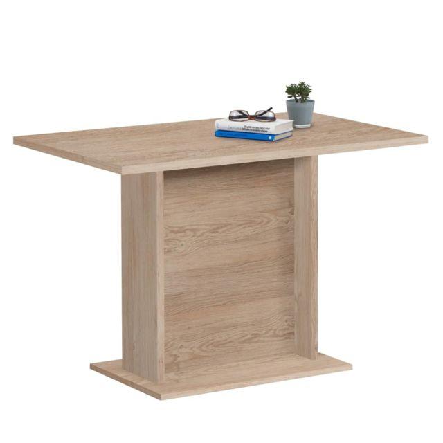 Fmd Table de Salle à Manger 110 cm Chêne Dîner Cuisine Repas Maison Bureau
