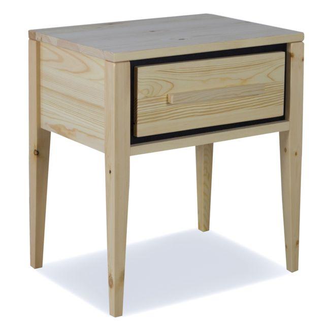 chevet cm x Table de coloris naturel 33 Dim50 45 bois x pin en fyI6bgv7Y