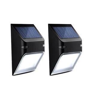 alpexe 2 pack eclairage solaire imperm able panneau solaire avec capteur de lumi re. Black Bedroom Furniture Sets. Home Design Ideas