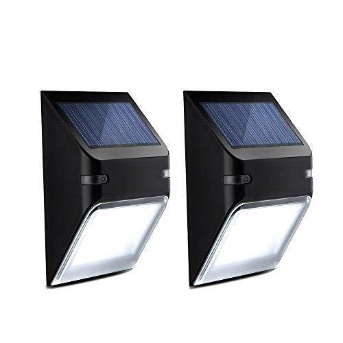 Alpexe 2 Pack Eclairage Solaire Impermeable Panneau Solaire Avec