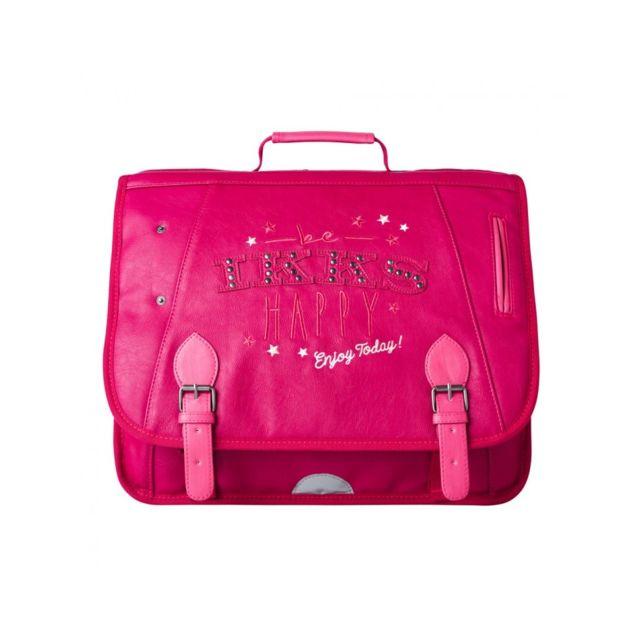 super pas cher nouvelle qualité top design Ikks - Cartable Fille Happy 38cm Rose - pas cher Achat ...