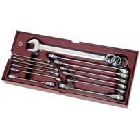 Kraftwerk - Coquille 15 Pièces de clés mixtes et Clés à Cliquet en pouce Completo