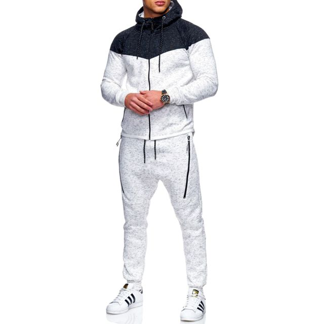 fa4e5138a49e5 Violento - Ensemble jogging fashion Survêtement 10971 blanc - pas ...