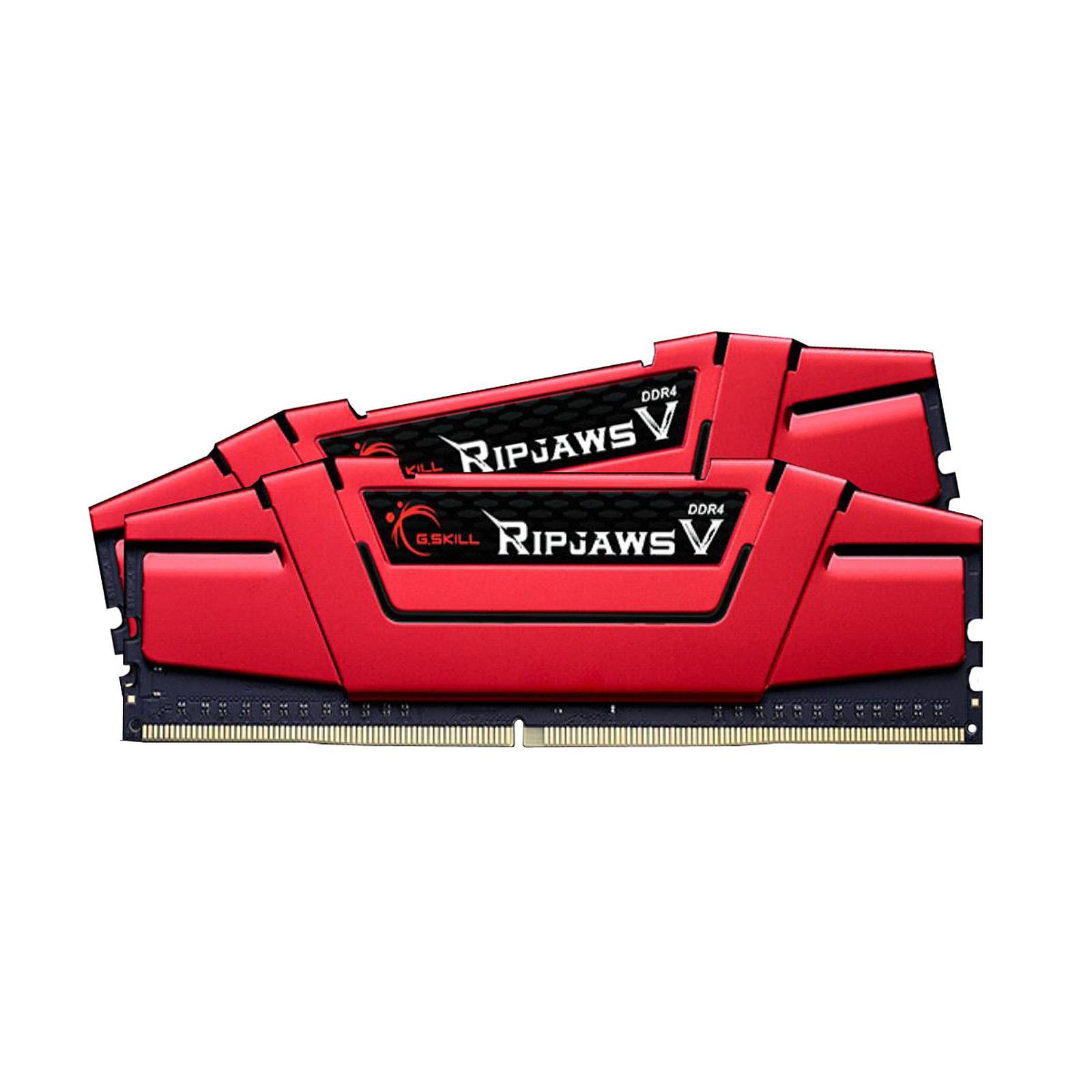 Ripjaws V - 2 x 4 Go - DDR4 2666 MHz CL15 - Rouge