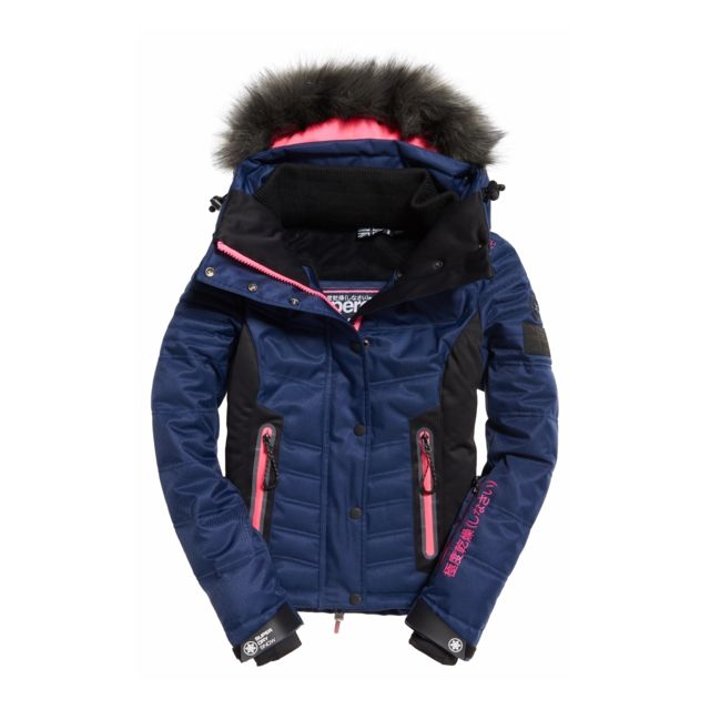 Pas Snow Veste Cher Superdry Navy Puffer De Bleu Luxe Marine Ski xSxw4qIz