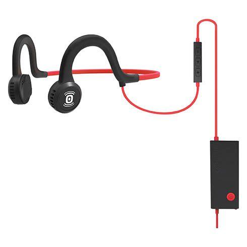 Aftershokz Casque filaire avec micro Sportz Titanium noir/rouge