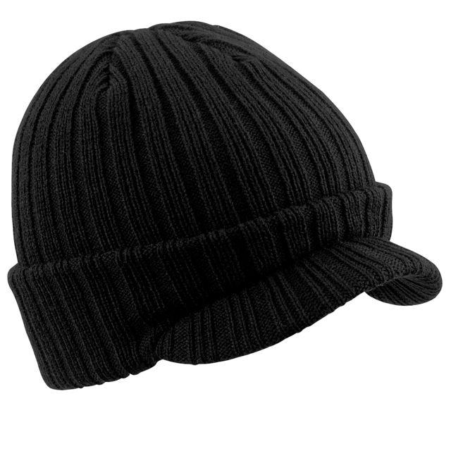design intemporel 68494 4959b Bonnet à visière - Homme Taille unique, Noir Utrw241