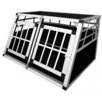 Destockoutils - Caisse de transport 1 chien 30 Kg ou 2 chiens 15/20 kg taille S alu