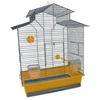 Tyrol - Cage Carolina équipée 45x28x60cm - Pour oiseau
