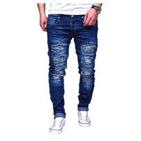 Justing - Jean fashion clouté bleu foncé