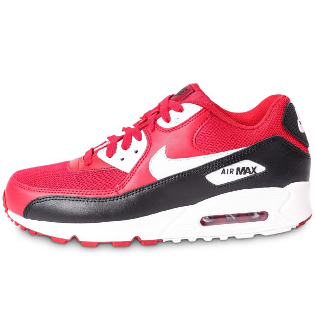 Nike Air Max 90 Essential Rouge Et Noire Baskets pas