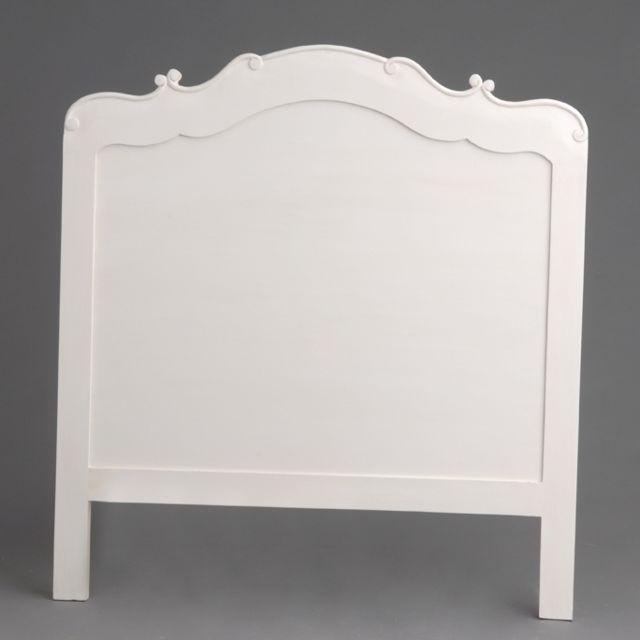 AMADEUS Tête de lit blanc cassé en acajou Apolline 90 cm