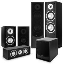 AUNA - Black-Line 5.1 Système audio HiFi home cinema 5 enceintes & subwoofer 10