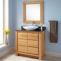 Wildwater - Meuble de salle de bain en teck massif et granit 90 cm - Valencia