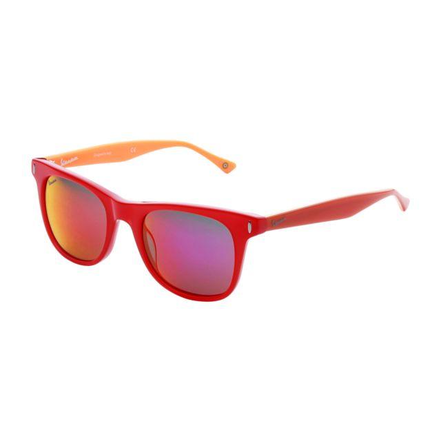 640ce384678598 Buzzao - Lunettes de soleil rouge unisex - Vespa - pas cher Achat   Vente  Lunettes Tendance - RueDuCommerce