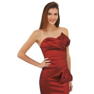 Robe rouge bordeaux pas cher