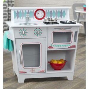 kidkraft petite cuisine classique enfant blanche pas. Black Bedroom Furniture Sets. Home Design Ideas