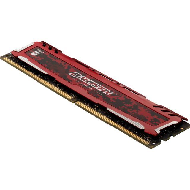 BALLISTIX Sport LT Red 16 Go 2x8 Go, 2666 Mhz DDR4 CL16 Kit Mémoire RAM DDR4 - PC4-21300 - BLS2C8G4D26BFSEK
