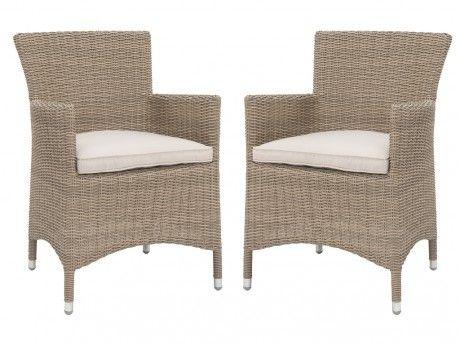 MARQUE GENERIQUE - Lot de 2 fauteuils de jardin KUOPIO en ...
