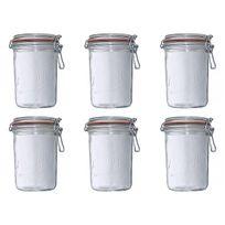Le Parfait - lot de 6 bocaux à terrine 1kg - 909154