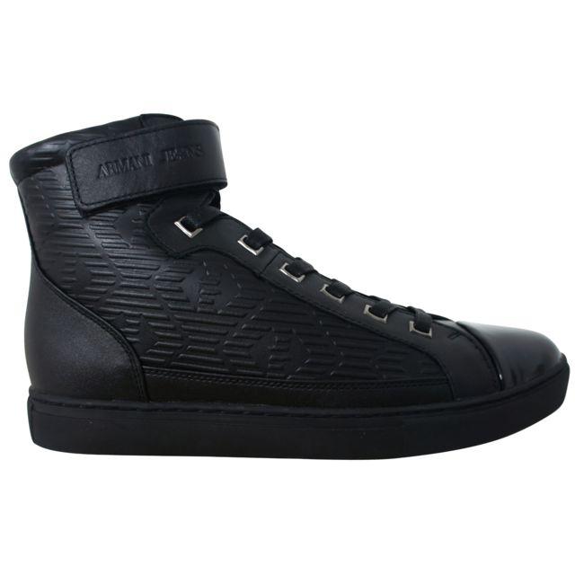 Basket Montante Cher B654638 Noire Jeans Armani Pas Ok8PX0nw