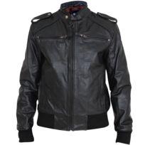 Eagle Square - Blouson Easy Rider cuir noir