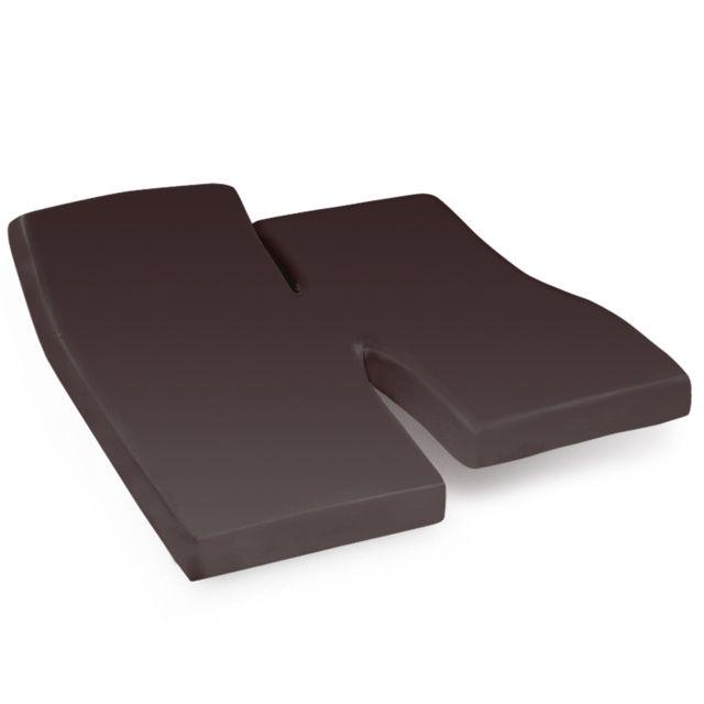 linnea drap housse relaxation uni 2x90x210 cm 100 coton alto manganese tpr t te et pied. Black Bedroom Furniture Sets. Home Design Ideas