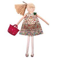 Trousselier - Grande Poupée Robe à Fleurs Rouges 50 cm