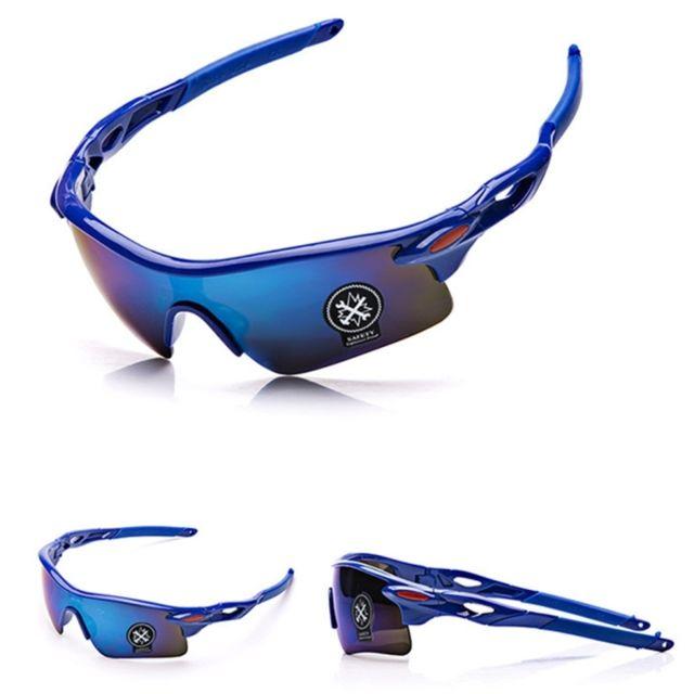 Wewoo - Lunettes de soleil unisexe Lunettes de de sport en plein air  antidéflagrantes Bule + Blue Noir - pas cher Achat   Vente Lunettes  Tendance - ... 9ec8f89bf1ed