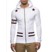 Beststyle - Sweat homme blanc fashion