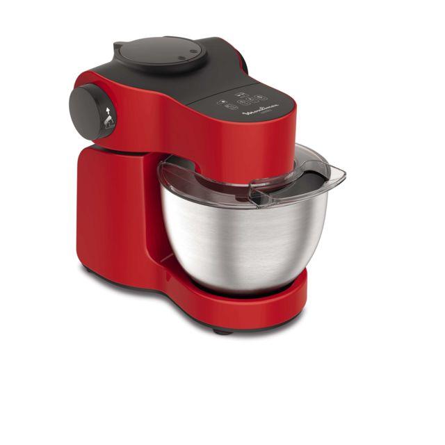 MOULINEX Robot pâtissier Wizzo + Blender - QA3015B1 - Rouge/Gris