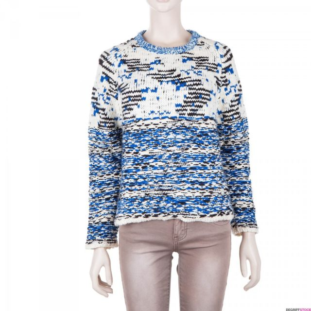 Paul   Joe - Pull écru et bleu femme 40 - pas cher Achat   Vente Pulls femme  - RueDuCommerce f1b2bf65643f