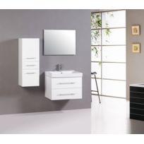 Ensemble Meuble salle de bain Alpos - 1 vasque + 1 miroir