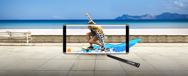 Le Galaxy Note8 et le S Pen