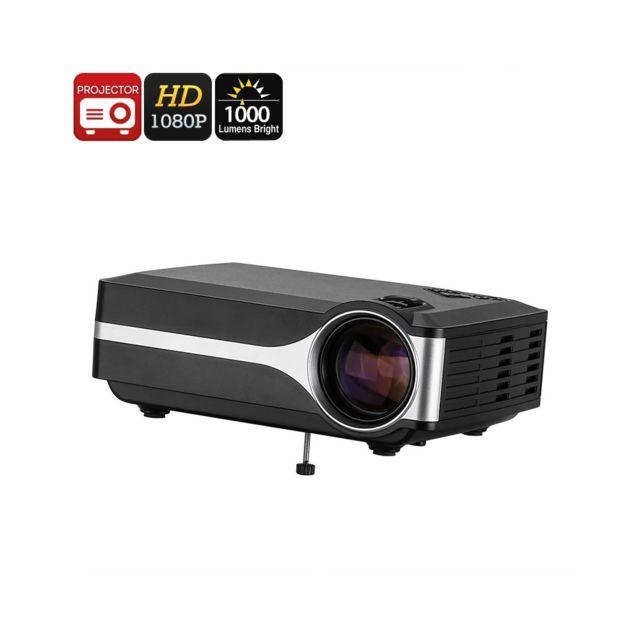 Auto-hightech Projecteur video Dlp - Prise en charge Fhd, Del 1000 Lumens, résolution native 800x480p