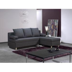 rocambolesk canap d 39 angle convertible reversible polo 4 places gris 197cm x 90cm x 150cm. Black Bedroom Furniture Sets. Home Design Ideas