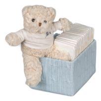 Bebedeparis - Boîte en bois bon temps couches, gris