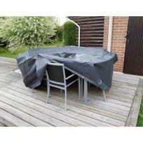 Ubbink - Housse de protection Ø 325 x H 90 cm pour salon de jardin rond