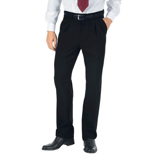 d6d56481741d Isacco - Pantalon a Pinces Taille Haute Homme Noir