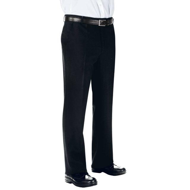 Isacco Pantalon Homme 100% Laine Noir