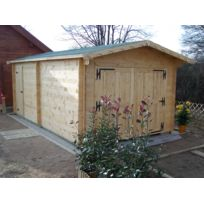 Foresta - Garage en bois 42mm 3,50 x 6,20m Montage disponible