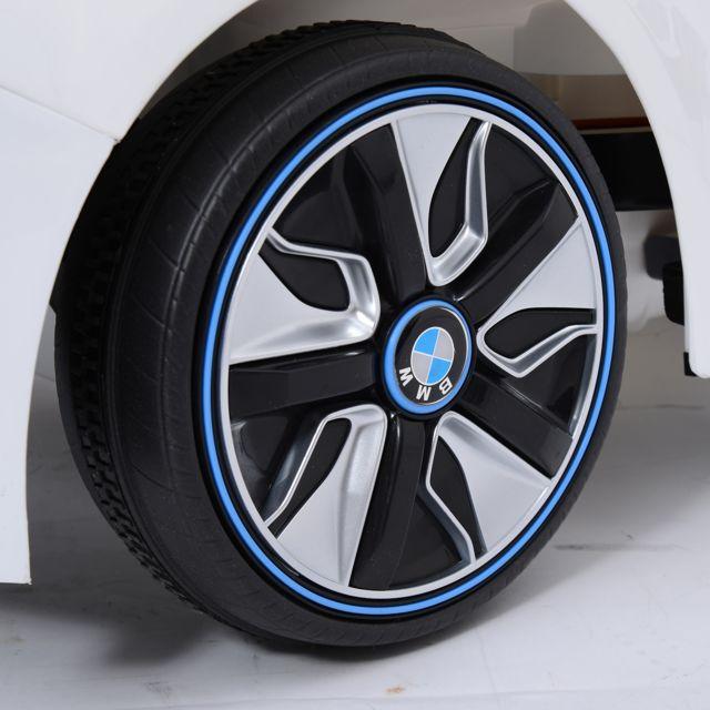 BMW MOTOR SPORT - BMW i8 voiture véhicule électrique pour enfants 3-8 ans 2 moteurs 6 V 3-6 Km/h phares musique télécommande blanc 01WT