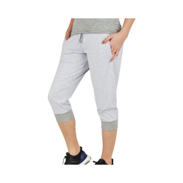 34 Pant Femme Pantacourt Blanc Adidas
