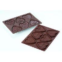 Silikomart - Moule à biscuit coeur en coffret