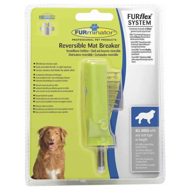 Furminator Tête de brosse Furflex Anti-bourres Réversible pour Chien